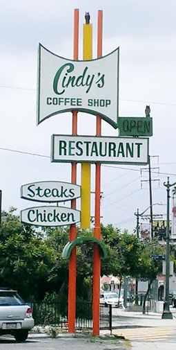 Those are owl statues perched on the sign