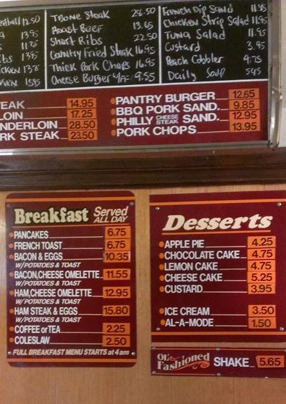 pantry menus